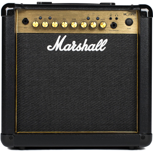 Marshall Amplification MG15GR 4-Channel Solid-State Combo Amplifier with Reverb & MP3 Input (15W)