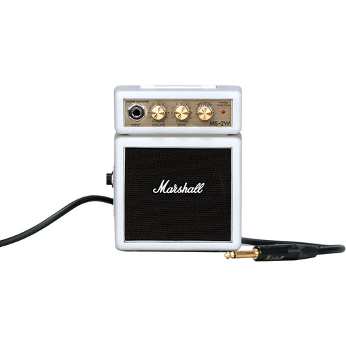 Marshall Amplification MS-2W-U Micro Amp - Mini Practice Amp (Limited Edition White)