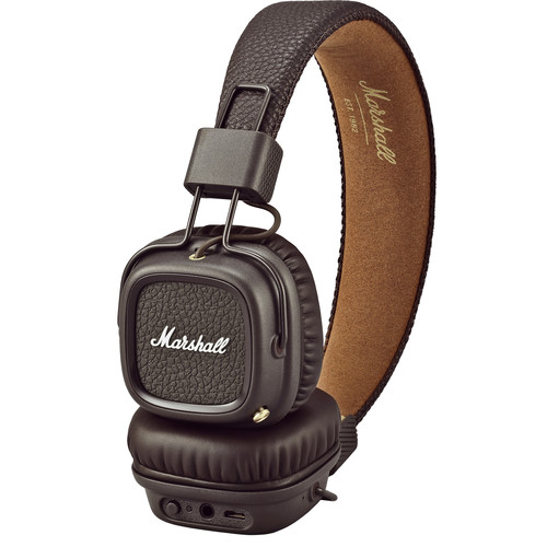 Marshall Audio Major II Bluetooth Headphones (Brown)