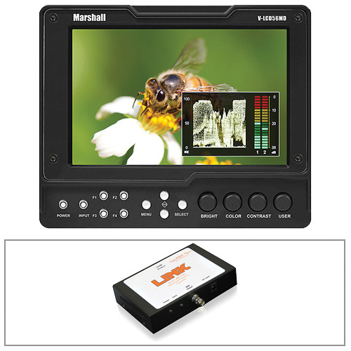 "Marshall Electronics V-LCD56MD 5.6"" On-Camera Monitor Kit with SDI to HDMI Converter"