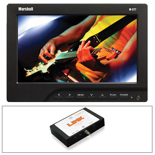 "Marshall Electronics 7"" Camera Top Monitor Kit with Canon E6 Battery and SDI to HDMI Converter"