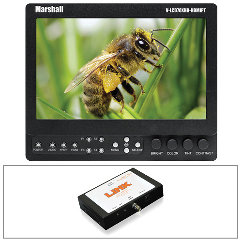 "Marshall Electronics 7"" On-Camera Monitor Kit with SDI to HDMI Converter"