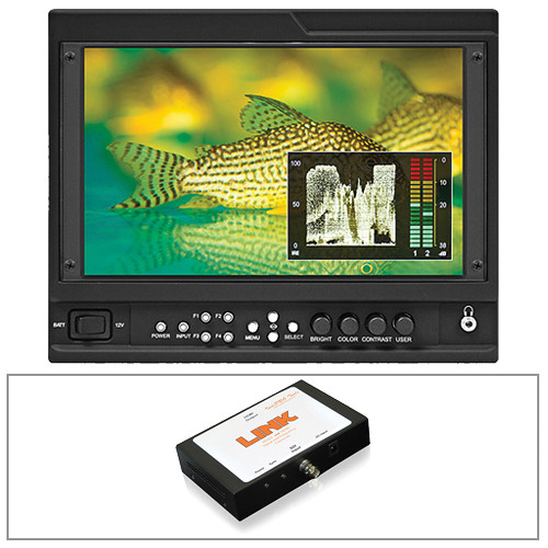"Marshall Electronics V-LCD90MD 9"" Camera Top Monitor Kit with SDI to HDMI Converter"