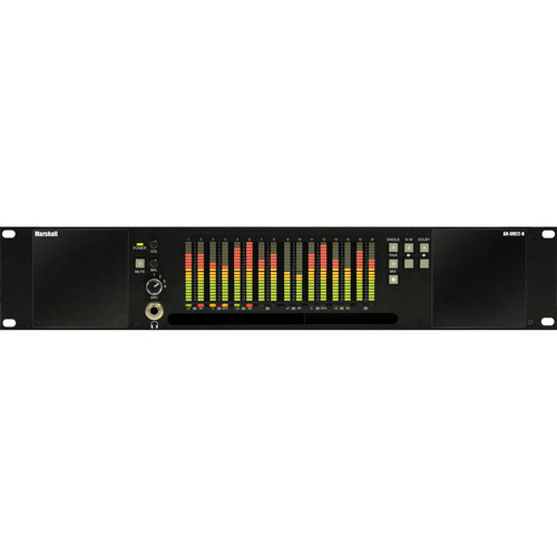 Marshall Electronics AR-DM22-B 16-Channel Digital Audio Monitor with Tri-Color LED Bar Graphs (Unloaded)