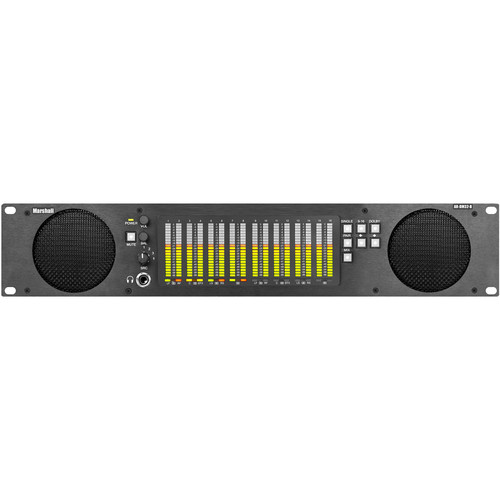 Marshall Electronics AR-DM32-B 16-Channel Digital Audio Monitor with Tri-Color LED Bar Graphs (2 RU)