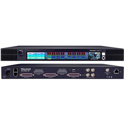 Marshall Electronics AR-DM61-BT-64DT Rackmount Multichannel Digital Audio Monitor with 64-Channel Dante Module