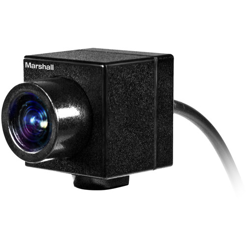 Marshall Electronics CV502-WPMB Full HD Weatherproof Mini Broadcast Camera with 3.7mm Lens
