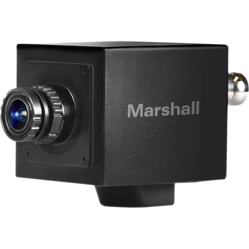 Marshall Electronics CV505-MB 2.5MP HD/3G-SDI Compact Broadcast Compatible Camera with Interchangeable 3.7mm Lens (M12 Lens Mount, Power/OSD Joystick/Audio Input)