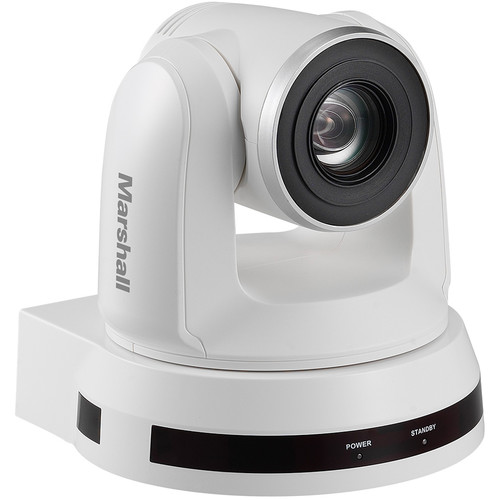 Marshall Electronics CV620 2MP Full HD Broadcast PTZ Conference Camera with 3G-SDI to USB 3.0 Converter (White)