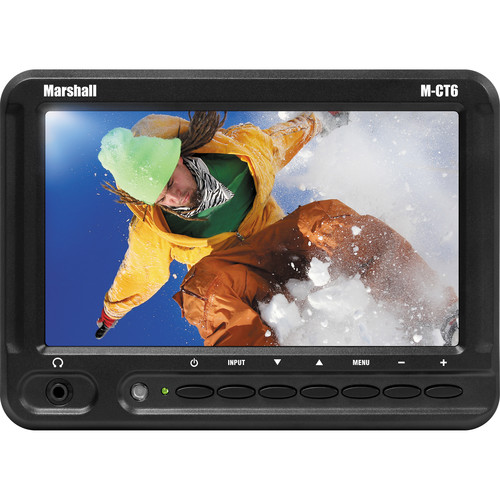 "Marshall Electronics M-CT6 6.2"" Widescreen Camera-Top Field LCD with AA Battery Plate"