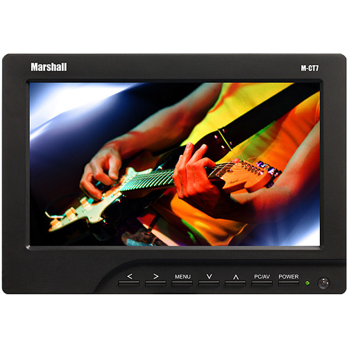 "Marshall Electronics M-CT7 7"" LCD On-Camera HDMI Monitor with Nikon EN-EL15 Plate / Battery / Charger"