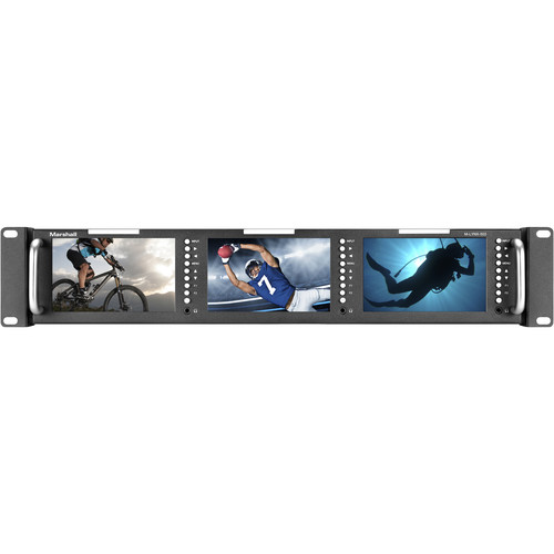 "Marshall Electronics M-LYNX-503 Rack-Mountable Triple 5"" LCD Monitor Unit"