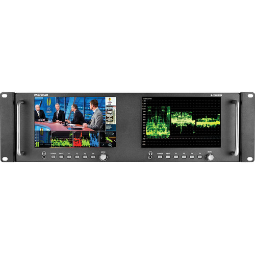"Marshall Electronics M-LYNX-702W Dual 7"" Loop Through 3G-SDI Rackmount Monitor with Loop Through HDMI Input/Output"