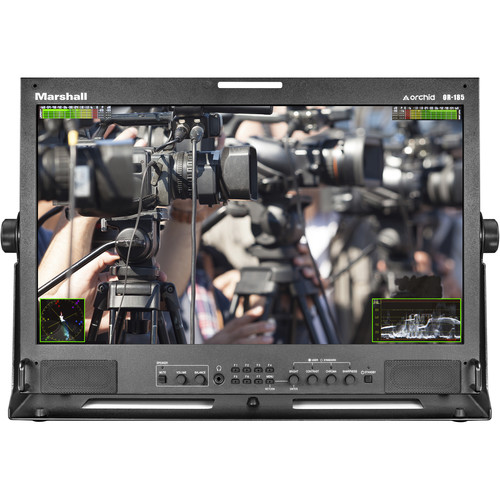 Marshall Electronics 1920X1080 IPS LCD with 3GSDIX1/DVIX1/CVX1 &  YPBPX1 Inputs Rack Mount Monitor