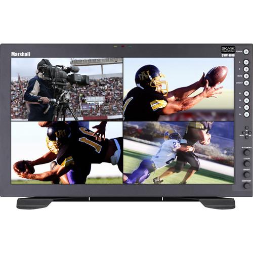 "Marshall Electronics Desk Top Quad View 17"" Native Resolution Monitor. 4K Quad 3G-SDI (IMD)"""