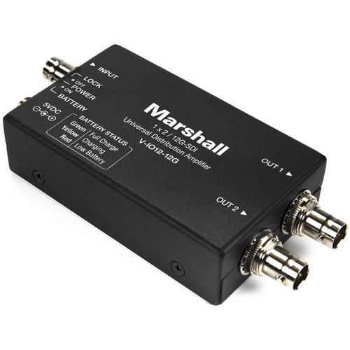 Marshall Electronics 12G-SDI 1 x 2 Universal Distribution Amplifier / Line Extender