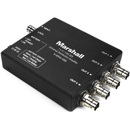 Marshall Electronics 12G-SDI 1 x 4 Universal Distribution Amplifier