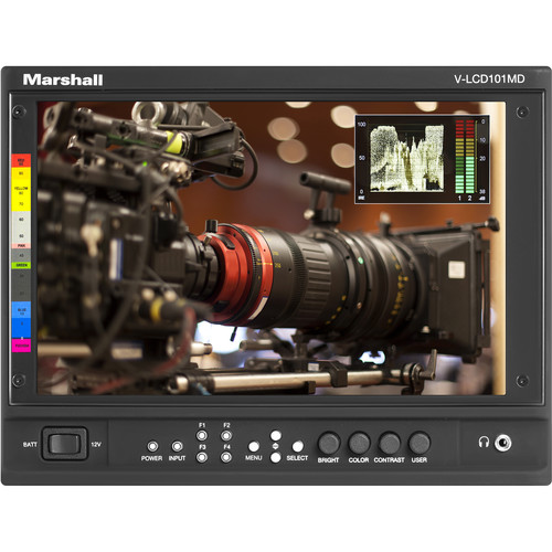 """Marshall Electronics V-LCD101MD 10"""" Full HD Producers Monitor with 3G-SDI Module"""