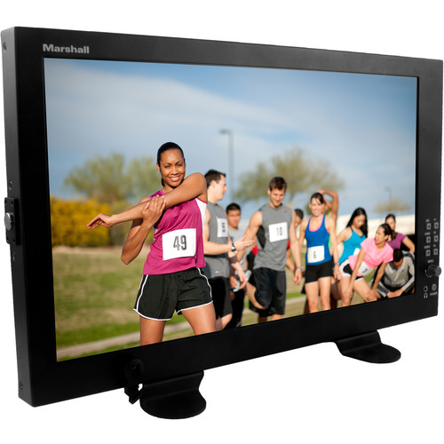 """Marshall Electronics 17.3"""" Professional LCD Desktop Monitor with Desktop Stand"""