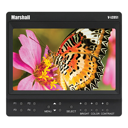 Marshall Electronics V-LCD51 with Canon BP-511 Style Battery Kit