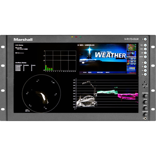 """Marshall Electronics 17.3"""" Stand Mount Dual Link/Waveform Monitor with In-Monitor Display"""