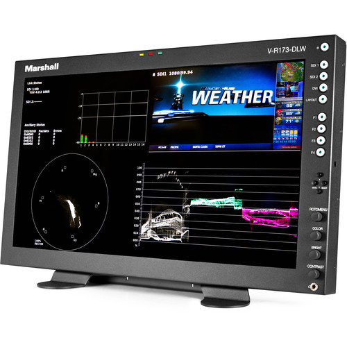 """Marshall Electronics 17.3"""" Rack Mount Dual Link/Waveform Monitor with In-Monitor Display"""
