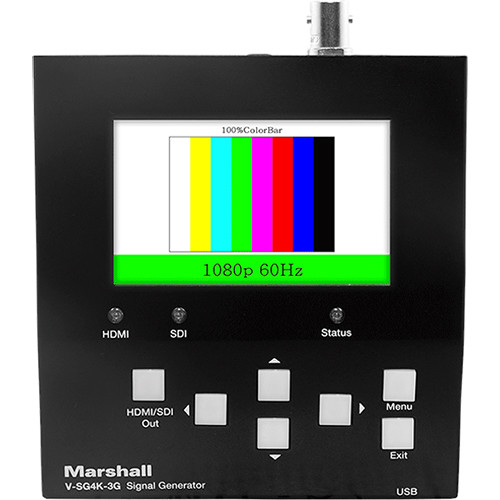 Marshall Electronics 4K 3G/HD-SDI Broadcast Test Signal Generator