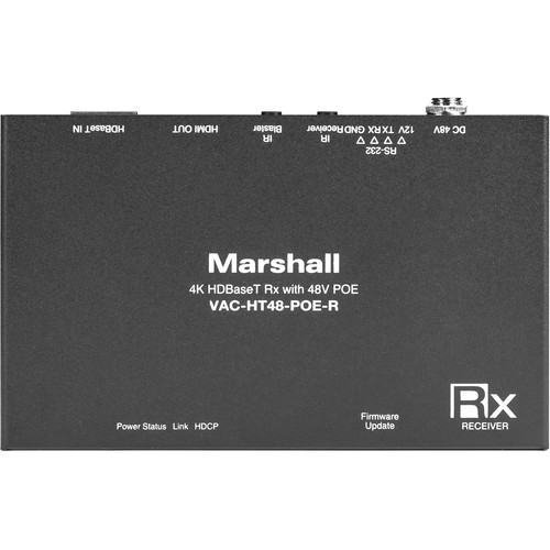 Marshall Electronics CAT6 to HDMI HDBaseT Receiver for CV612HT-4K PTZ Camera (Up to 328')