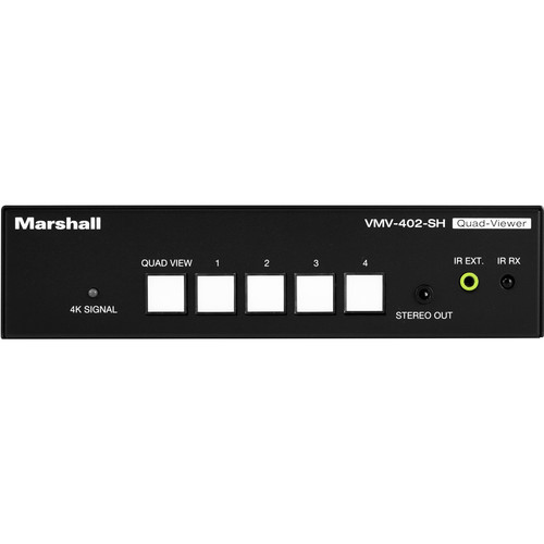Marshall Electronics 4 x 3G/HD/SD-SDI Channel Multiviewer with SDI/HDMI Output