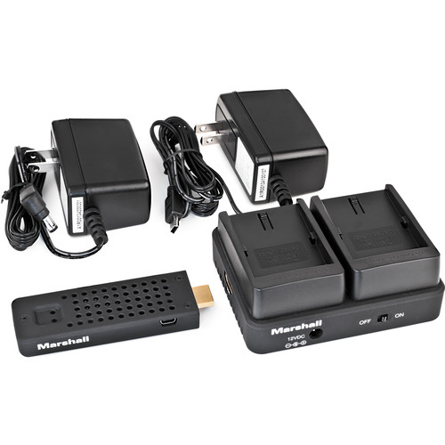 Marshall Electronics WP-2C Wireless HDMI Transmitter Receiver System (Dual LP-E6)