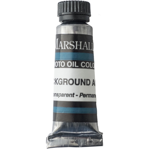 "Marshall Retouching Oil Color Paint: Background Aqua - 0.5 x 2"" Tube"