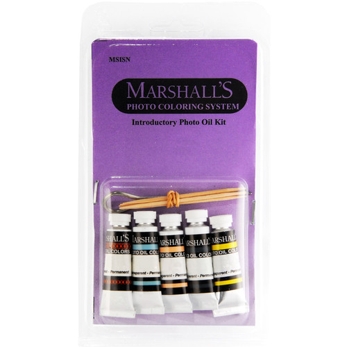"Marshall Retouching Introductory Oil Set with Five 0.5 x 2"" Oil Color Tubes & Cotton Skewers"