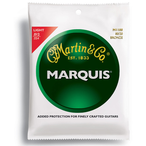 MARTIN Marquis 80/20 Bronze Acoustic Guitar Strings (12-54 Gauge)