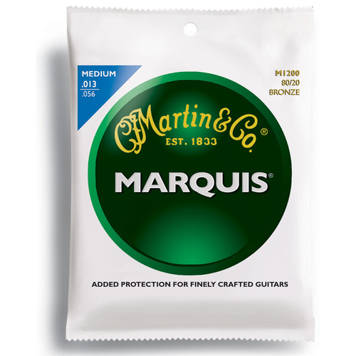 MARTIN Marquis 80/20 Bronze Acoustic Guitar Strings (13-56 Gauge)