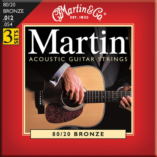 MARTIN Acoustic 80/20 Bronze Guitar Strings (3-Pack)