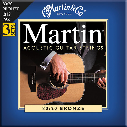 MARTIN Acoustic 80/20 Bronze Guitar Strings (3-Pack)