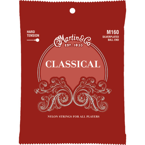 MARTIN Classical Silver-Plated Ball End Guitar Strings (Hard Tension, 28-43 Gauge, 6-String Set)