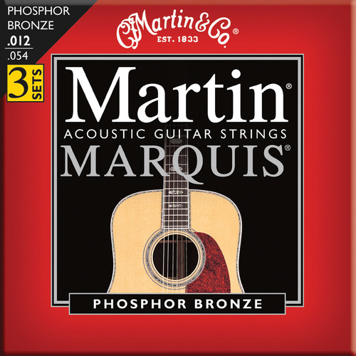 MARTIN Marquis Phosphor Bronze Acoustic Guitar Strings (12-54 3-Pack)