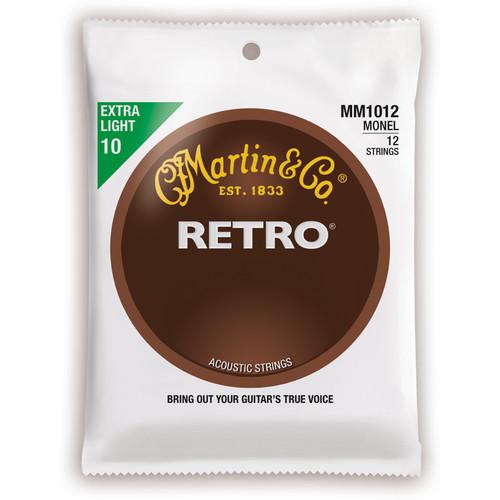 MARTIN Extra Light Gauge Retro Monel Acoustic Guitar Strings (10-47, Set of 12)