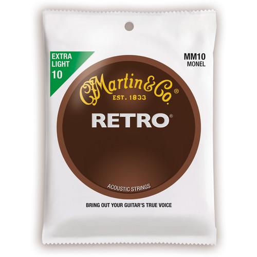 MARTIN Extra Light Gauge Retro Monel Acoustic Guitar Strings (10-47, Set of 6)