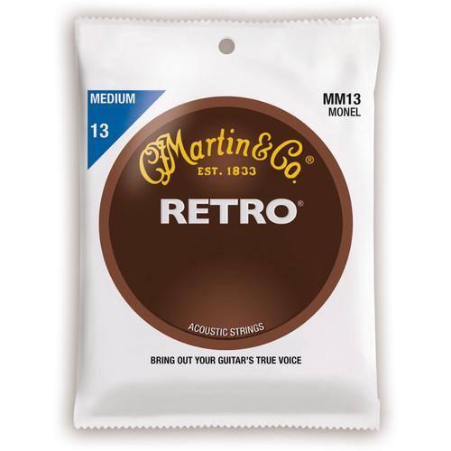 MARTIN Medium Gauge Retro Monel Acoustic Guitar Strings (13-56, Set of 6)