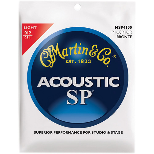 MARTIN Acoustic SP Phosphor Bronze Guitar Strings (12-54 Gauge)
