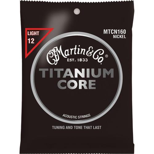 MARTIN Titanium Core Light Gauge Acoustic Guitar Strings (6-String Set, 12 - 55)