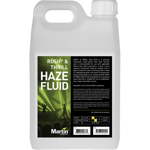 Martin Professional Lighting RUSH and THRILL Haze Fluid (2.5L)