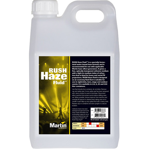 Martin Professional Lighting RUSH Haze Fluid (4 x 2.5L)