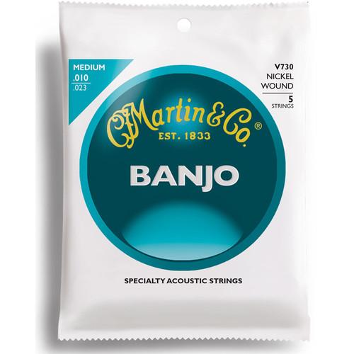 MARTIN Vega Nickel Wound Banjo Strings (Medium Gauge)