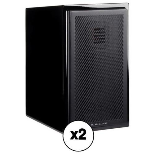 MartinLogan Motion 15 2-Way Bookshelf Speaker Pair Kit (Gloss Black)
