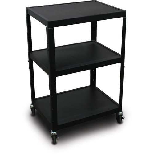 "Marvel Vizion Spartan Series MV2642 24 x 18"" Height-Adjustable A/V Cart (Black)"