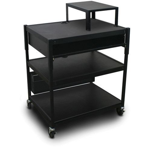 Marvel Spartan Series Adjustable Cart with 1 Pull-Out Front Shelf and Expansion Shelf