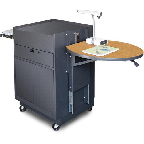 Marvel Vizion Media Center Cart with Steel Doors and Adjustable Platform (Oak Laminate)